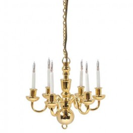 Six Candle Chandelier