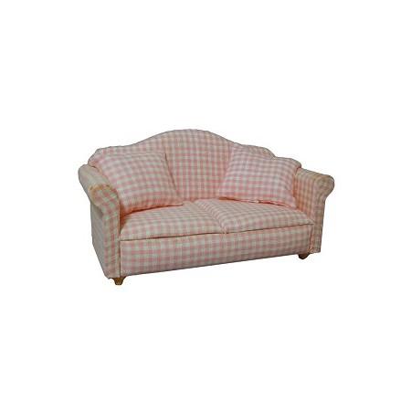 Pink Pattern Sofa